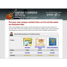 ClickBank Guitar Review Website
